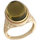 Ring 925 St.Silber vergoldet Bernstein grün Mexiko Gr.19 - 15273010402 - 1 - 140px