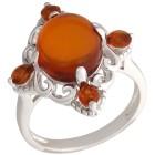 Ring 925 Sterling Silber Bernstein, Madeira Citrin Gr. 21 - 15274110404 - 1 - 140px