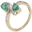 Ring 585 Gelbgold Sambia Smaragd, Diamanten Gr. 19 - 15275910202 - 1 - 140px