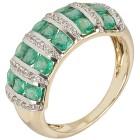 Ring 585 Gelbgold Sambia Smaragd, Zirkon Gr. 19 - 15276110302 - 1 - 140px