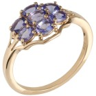 Ring 375 Gelbgold AATansanit, Zirkon Gr. 19 - 15300810303 - 1 - 140px