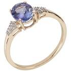 Ring 375 Gelbgold AATansanit, Zirkon Gr. 19 - 15301610303 - 1 - 140px