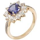 Ring 585 Gelbgold AAATansanit, Zirkon Gr. 18 - 15301710201 - 1 - 140px