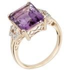 Ring 375 Gelbgold Amethyst, Zirkon Gr. 19 - 15302610302 - 1 - 140px