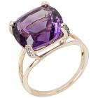Ring 375 Gelbgold African Amethyst, Zirkon Gr. 19 - 15302710302 - 1 - 140px
