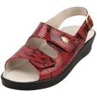 SANITAL LIGHT Damen-Sandaletten rot Schlangenoptik Größe 42 - 34914110808 - 1 - 140px