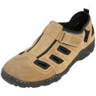Dr. Feet Leder Herren-Slipper beige