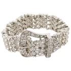 Armband Rihanna silber mit weißen Steinen