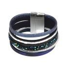 crystal blue Magnet-Armband, dunkelblau