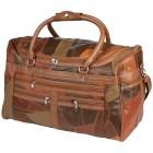 Reisetasche Patch-Leder, rot