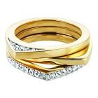 Buckley London Ring Messing vergoldet