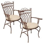 Gartenstuhl-Set, 2-teilig, Versailles - 59544300000 - 1 - 140px
