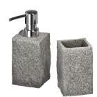 WENKO Bad-Accessoire-Set Granit, 2-teilig - 59611600000 - 1 - 140px