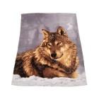 Fotodruck Kuscheldecke Wolf, ca. 150 x 200 cm - 63657300000 - 1 - 140px