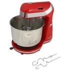 Küchenmaschine rot-silber