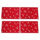 Platzset Sterne 4-teilig, rot/weiß
