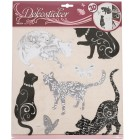 Wandsticker Katzen & Schmetterlinge