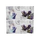 Wandbild Lavendel auf Keilrahmen 40 x 40cm 4er-Set
