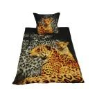 WinterDreams Bettwäsche, Leopardenmuster, 2-teilig