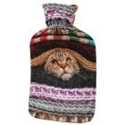 Wärmflasche Katze bunt/braun, 2 l Füllmenge - 68162000000 - 1 - 140px