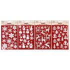 Dekosticker Weihnachten, Glitzeroptik, 4 Motive - 68208200000 - 1 - 140px