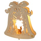 Fensterlicht Glocke mit Reh, 24 x 28 x 4,5 cm - 68220900000 - 1 - 140px
