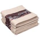 Cottonbelle Handtuch, Druckbordüre Tiger, 4er Set