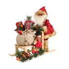 Santa mit Schlitten 50 cm