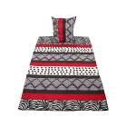 AllSeasons Bettwäsche, rot-weiß-schwarz, 2-teilig