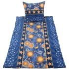 OPTIDREAM Bettwäsche blau-gelb, 2-teilig - 68289800000 - 1 - 140px