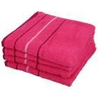 OPTISPLASH Handtuch, pink, 50 x 100 cm, 4er Set