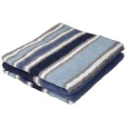 Cottonbelle Duschtuch, blau, gestreift, 2er-Set - 68309100000 - 1 - 140px
