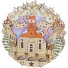 Fensterbild Seiffener Kirche, Ø 30 cm - 68329700000 - 1 - 140px