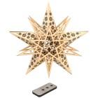 LED Holzstern natur mit Fernbedienung, 30 cm - 68330700000 - 1 - 140px