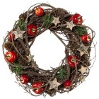 Naturdekokranz Weihnachten, 24 cm - 68368400000 - 1 - 140px