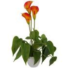 Kunstblume Calla orange, inkl. Topf - 68383700000 - 1 - 140px