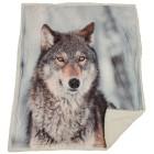 Sherpadecke Fotodruck Wolf, 130 x 160 cm - 68384400000 - 1 - 140px