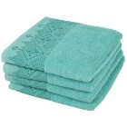 Handtuch mit bestickter Borde, türkis, 4er-Set - 68387100000 - 1 - 140px