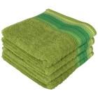Handtuch mit bestickter Bordüre, grün, 4er Set - 68387700000 - 1 - 140px