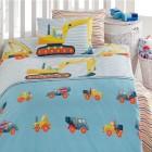 Kinder-Bettwäsche, Baufahrzeuge, blau, 2-teilig - 68400300000 - 1 - 140px