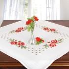 Stickset rote Rosen, 4-teilig