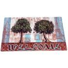 Fußmatte Bäume, türkis-braun, 74 x 44 cm - 68409700000 - 1 - 140px