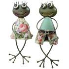 Kantensitzer Frosch, grün, 22 cm, 2er-Set