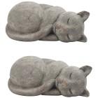 Dekokatze grau aus Steingut, 28 cm, 2er-Set - 68426800000 - 1 - 140px