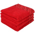 Handtuch rot, 50 x 100 cm, 4er-Set