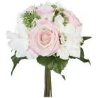 Rosen-Hortensien-Bouquet weiß/rosa, 31 cm - 68439300000 - 1 - 140px