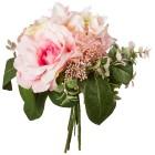 Rosen-Hortensie-Bouquet weiß/rosa, 26 cm - 68441500000 - 1 - 140px