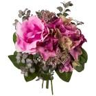Rosen-Hortensie-Bouquet rosa/lila, 26 cm - 68441700000 - 1 - 140px