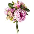 Peonienbouquet rosa/lila, 28 cm, 2er Set