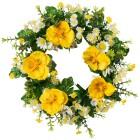 Dekokranz Stiefmütterchen gelb, 33 cm - 68442100000 - 1 - 140px